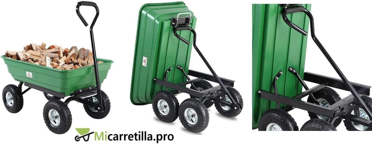 carretilla con ruedas multifuncion