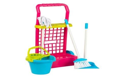 carrito de limpiar de juguete