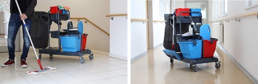 carritos para limpiar profesionalmente