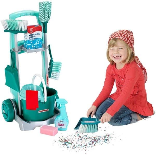 carro de limpieza para niños
