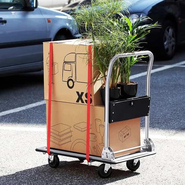 plataforma de carga para paqueteria